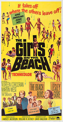 The Girls On The Beach, Us Poster Art Print by Everett