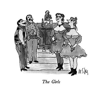 Montage Drawing - The Girls by William Stei