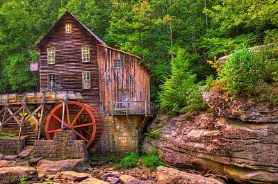 The Glade Creek Grist Mill Print by Gregory Ballos
