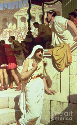 The Gladiators Wife Art Print by Edmund Blair Leighton