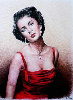 Elizabeth Taylor Wall Art - Painting - The Glamour Days by Andrew Read