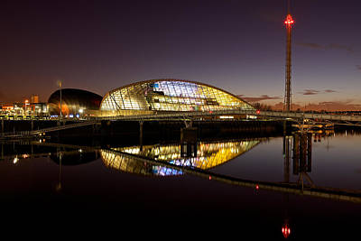 Photograph - The Glasgow Science Centre by Stephen Taylor