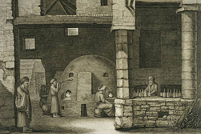 The Glass Bottle Maker, From Volume II Art Print by Nicolas Jacques Conte