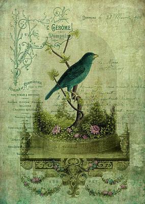 Petrol Green Digital Art - The Glass Cloche by Sarah Vernon