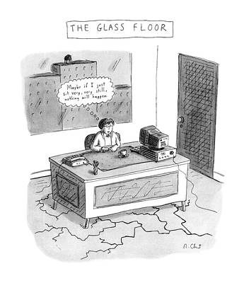 Enviroment Drawing - The Glass Floor by Roz Chast