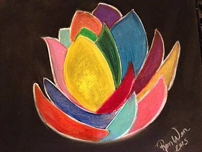 Painting - The Glass Lotus by Renee Michelle Wenker