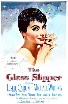 1950s Movies Photograph - The Glass Slipper, Us Poster, Leslie by Everett
