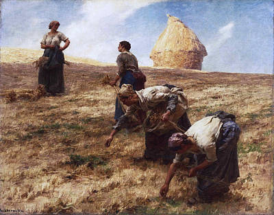 The Gleaners Painting - The Gleaners by Leon-Augustin Lhermitte