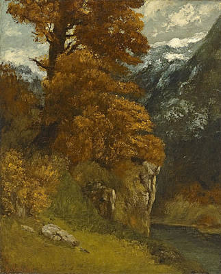 Glen Painting - The Glen At Ornans, 1866 by Gustave Courbet