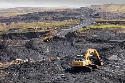 The Glentaggart Open Cast Coal Mine Art Print by Ashley Cooper