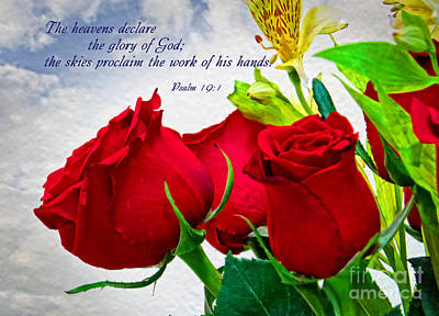 the glory of God - Psalm 19 -1 Art Print