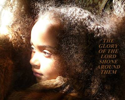 Photograph - The Glory Of The Lord Shone Around Them by Jodie Marie Anne Richardson Traugott          aka jm-ART