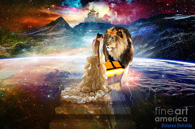 Animals Digital Art Royalty Free Images - The Glory Season Royalty-Free Image by Dolores Develde