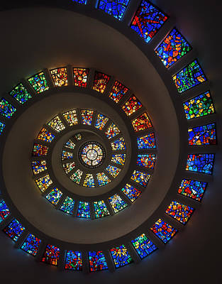 Glass Art Photograph - The Glory Window In Thanks-giving-square Dallas by Mountain Dreams