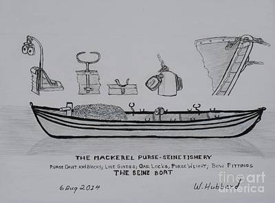 Drawing - The Gloucester Seine Boat by Bill Hubbard