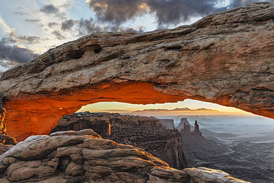Mesa Arch Photograph - The Glow From Below by Guy Schmickle