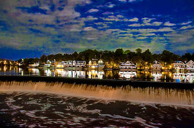 Boathouse Photograph - The Glow Of Boathouse Row by Bill Cannon