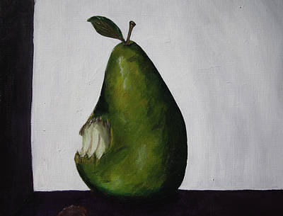 The Gmo Pear Art Print by Alicia Lockwood
