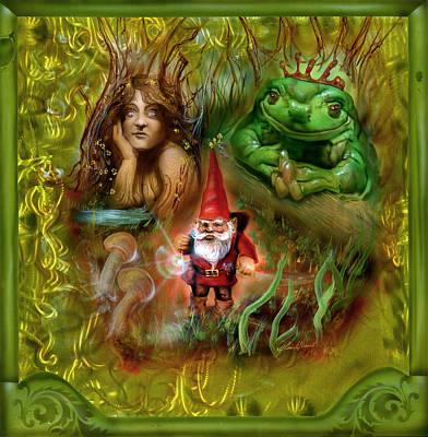 The Gnomes Journey Art Print by Luis  Navarro
