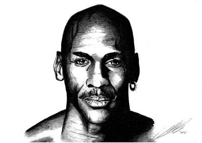 The Goat Michael Jordan Art Print