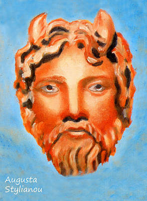 The God Jupiter Or Zeus.  Art Print by Augusta Stylianou