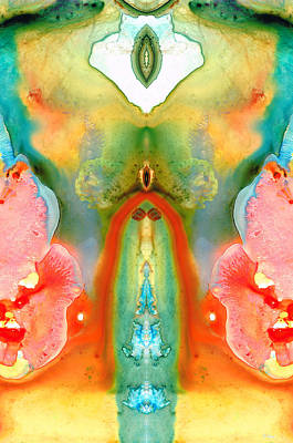 Native American Symbols Painting - The Goddess - Abstract Art By Sharon Cummings by Sharon Cummings