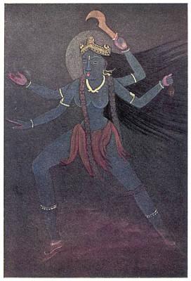 The Goddess Kali, The  Malevolent Art Print