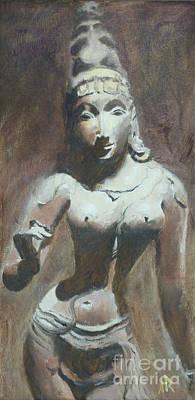 Parvati Painting - The Goddess Parvati by Ann Radley