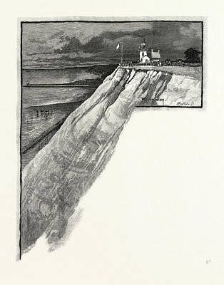 Lighthouse Drawing - The Goderich Lighthouse, Canada by Canadian School
