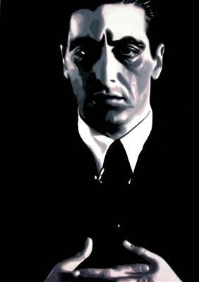 John Marley Painting - The Godfather by Luis Ludzska