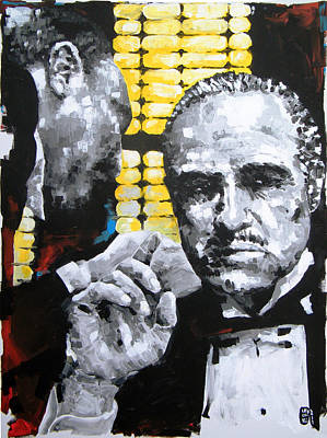 The Godfather Art Print by Michael Leporati