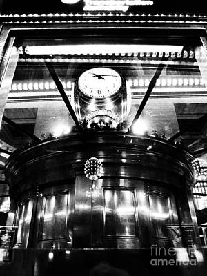 Photograph - The Gods Of Time - Clock At Grand Central by Miriam Danar
