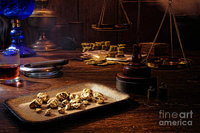 The Gold Trader Shop Art Print by Olivier Le Queinec