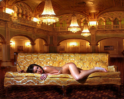 Photograph - The Gold Couch by Jerome Holmes