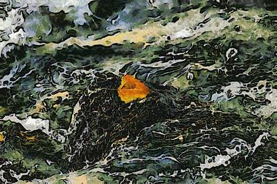 Digital Art - The Gold Spot by Ernie Echols