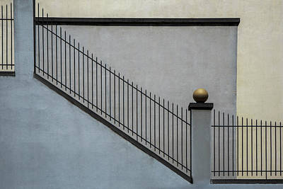Staircase Photograph - The Golden Ball II by Gilbert Claes