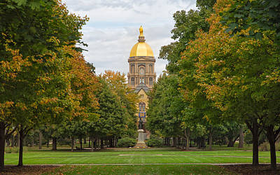 Photograph - The Golden Dome Of Notre Dame by John M Bailey
