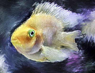 Golden Fish Digital Art - The Golden Fish by Yury Malkov