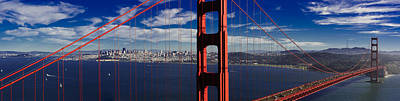 Photograph - The Golden Gate Bridge And San Francisco by Joe Doherty