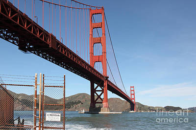 Photograph - The Golden Gate Bridge At Fort Point - 5d21478 by Wingsdomain Art and Photography