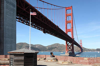 Frisco Pier Photograph - The Golden Gate Bridge At Fort Point 5d21586 by Wingsdomain Art and Photography