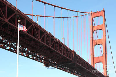Frisco Pier Photograph - The Golden Gate Bridge At Fort Point 5d21589 by Wingsdomain Art and Photography