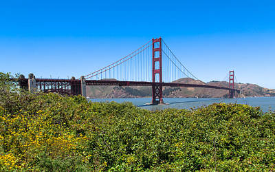 Photograph - The Golden Gate Bridge From Crissy Field by John M Bailey