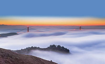 San Francisco Photograph - The Golden Gate Bridge In The Fog by Jenny Qiu