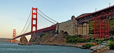 The Golden Gate Bridge  Print by Jim Fitzpatrick