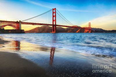 San Francisco Embarcadero Photograph - The Golden Gate Bridge by Mel Ashar