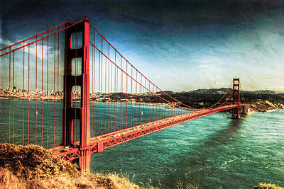 Photograph - The Golden Gate Bridge by Natasha Bishop