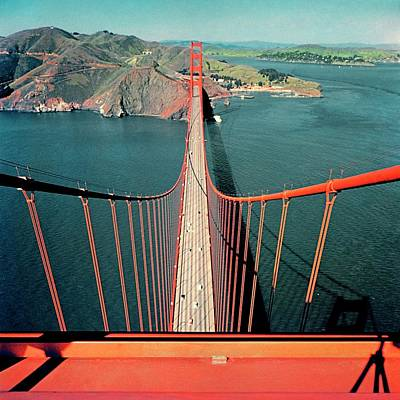 Golden Gate Photograph - The Golden Gate Bridge by Serge Balkin