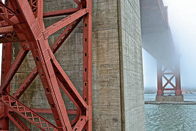 Photograph - The Golden Gate - Fort Point View by Bill Owen