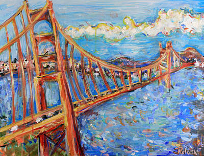 Asbury Park Painting - The Golden Gate by Jason Gluskin